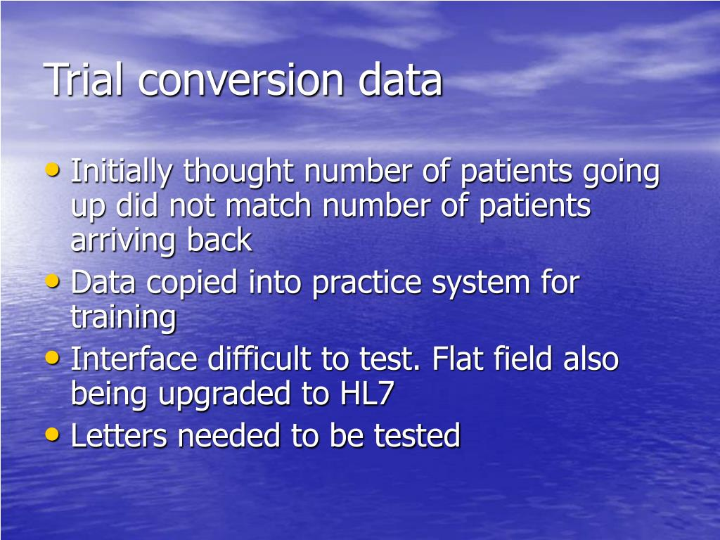 Trial conversion data