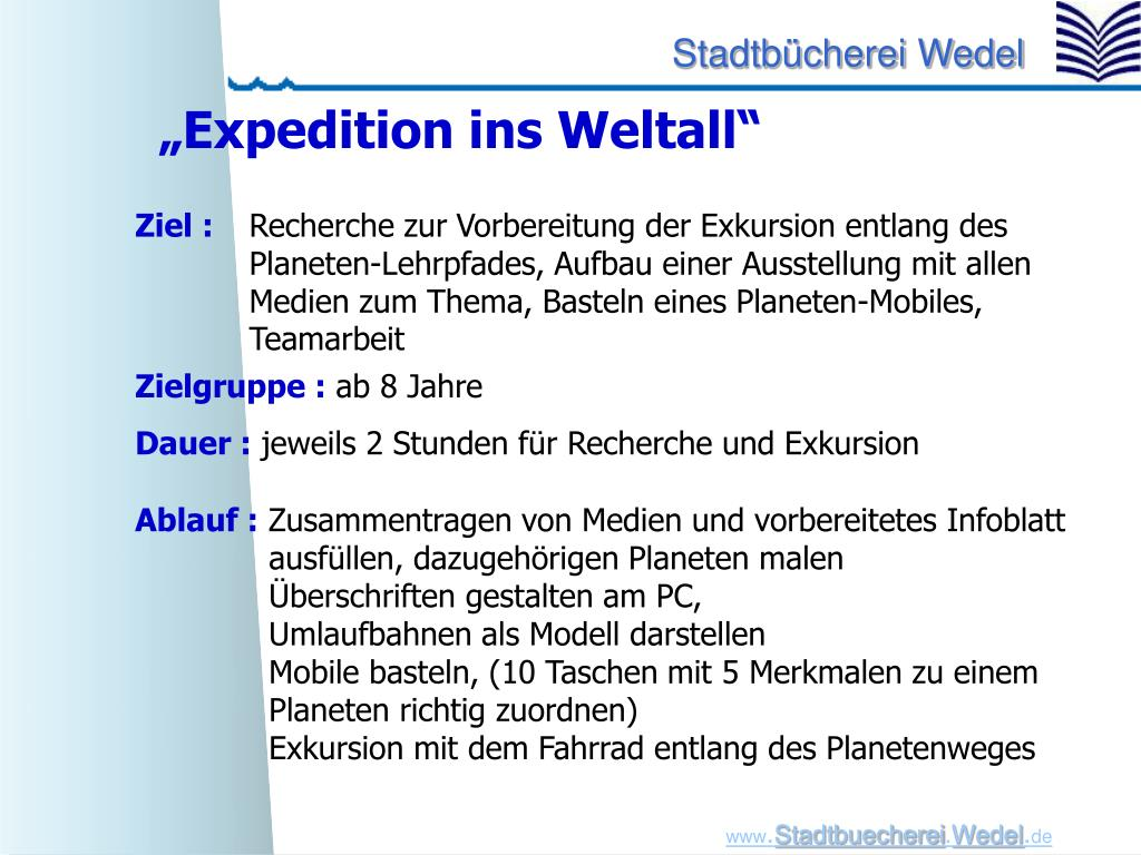 """""""Expedition ins Weltall"""""""
