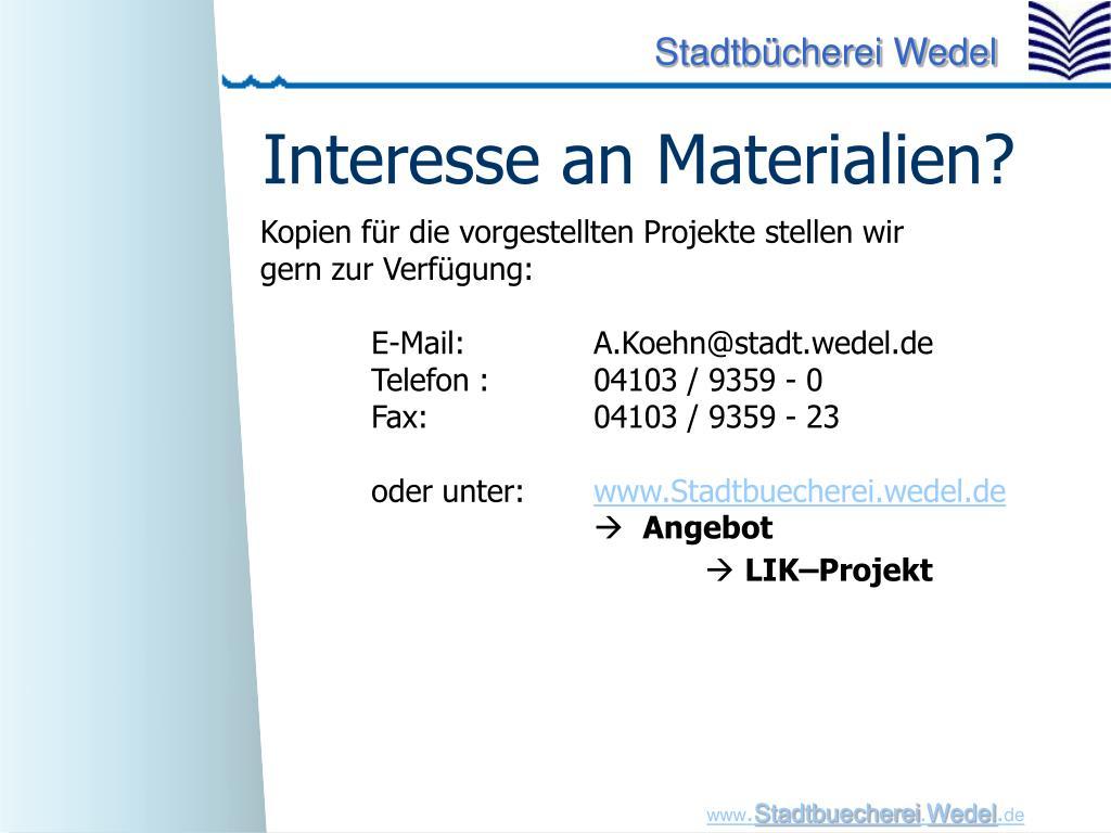 Interesse an Materialien?