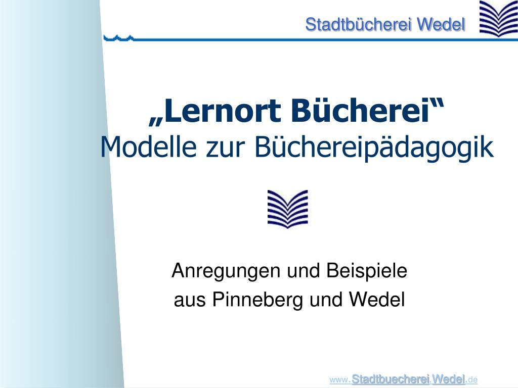 """""""Lernort Bücherei"""""""