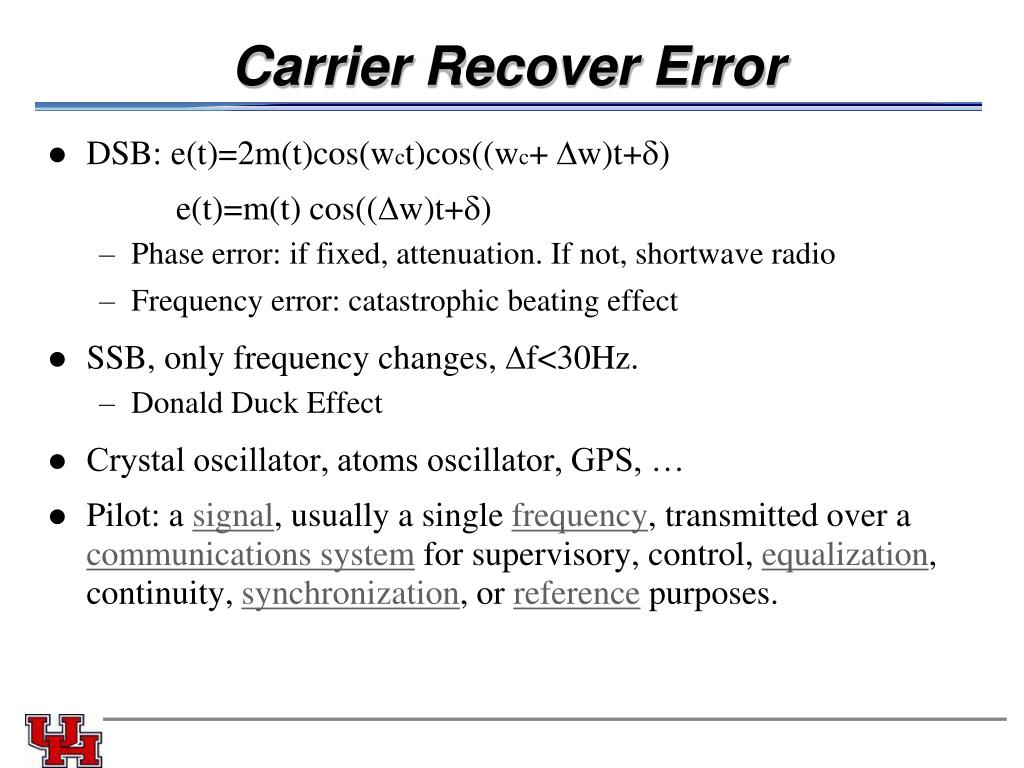 Carrier Recover Error