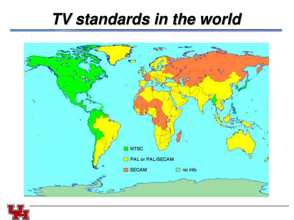 TV standards in the world