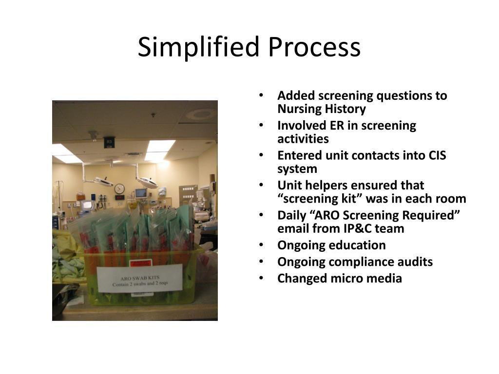 Simplified Process
