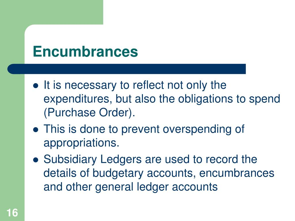 Encumbrances