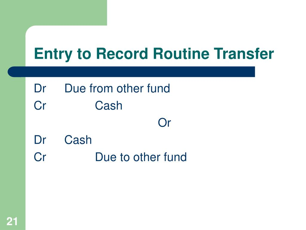 Entry to Record Routine Transfer