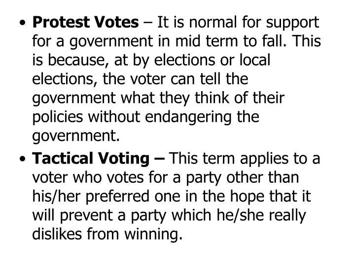 Protest Votes