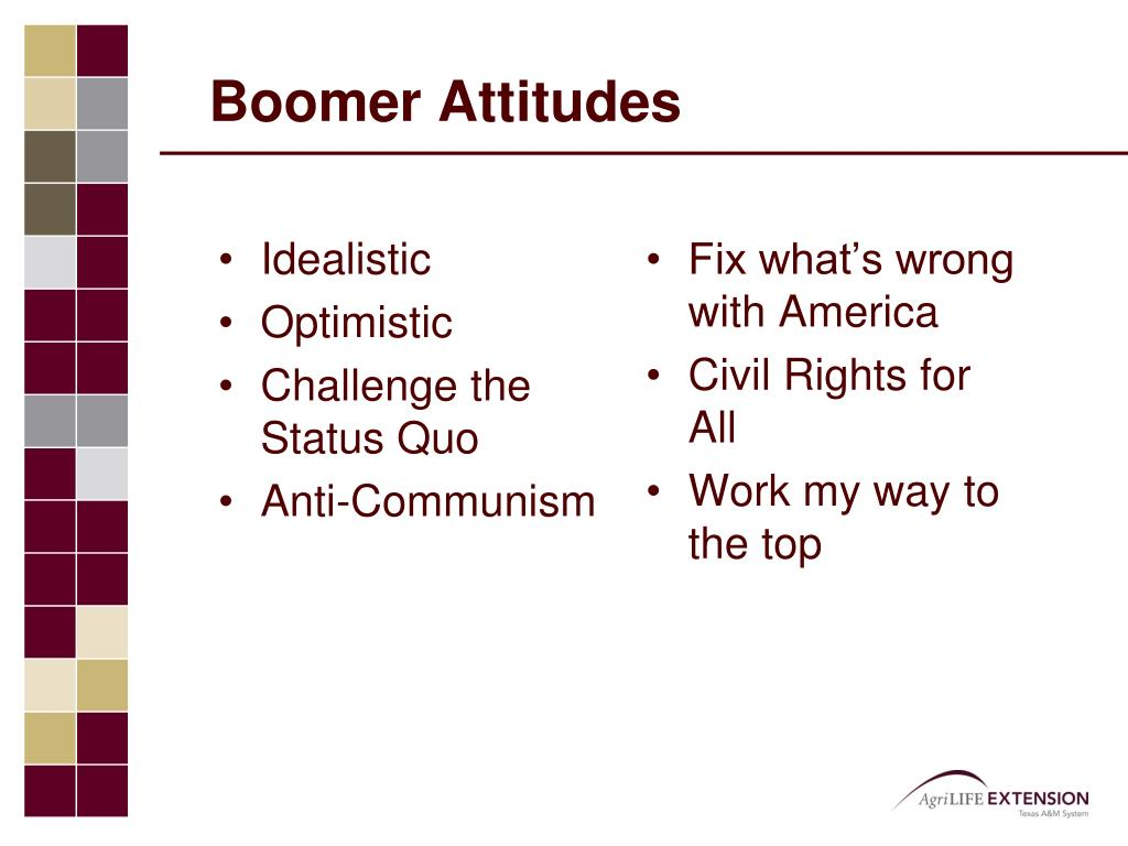 Boomer Attitudes