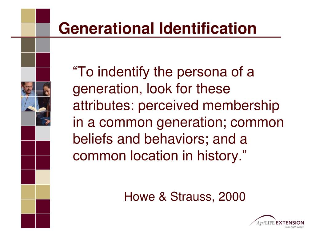 Generational Identification