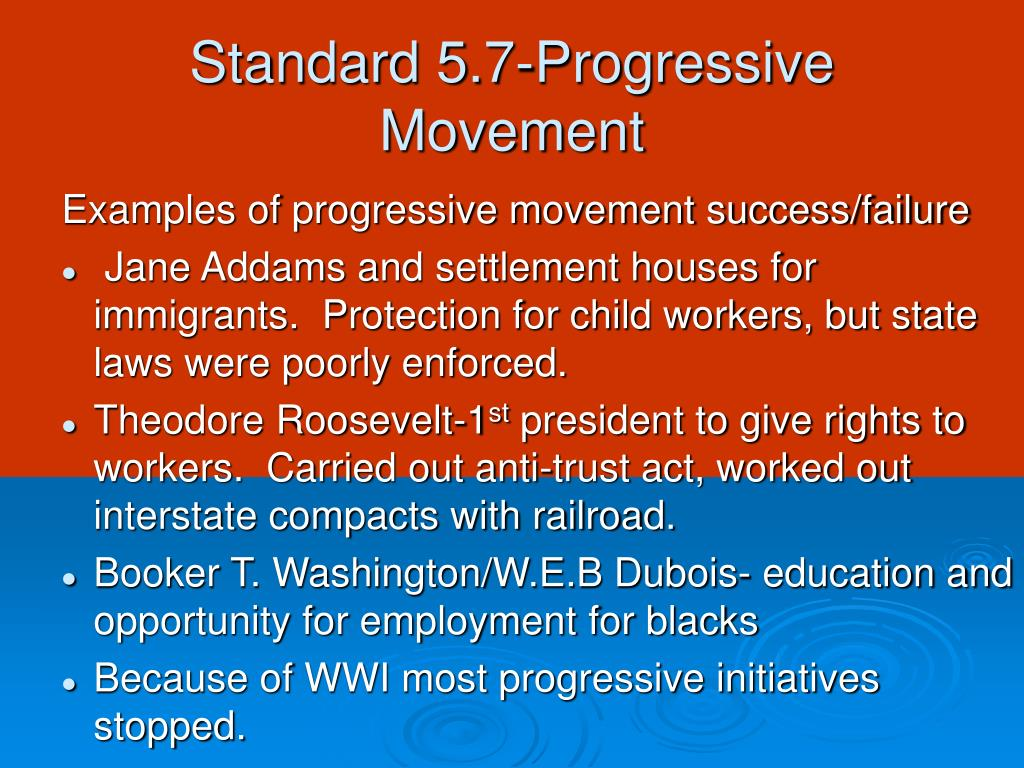 jane addams and the progressive movement essay The efforts of the men at toynbee to reach across the class divide inspired jane addams, who founded chicago's hull house in 1889, as well as a group of smith.