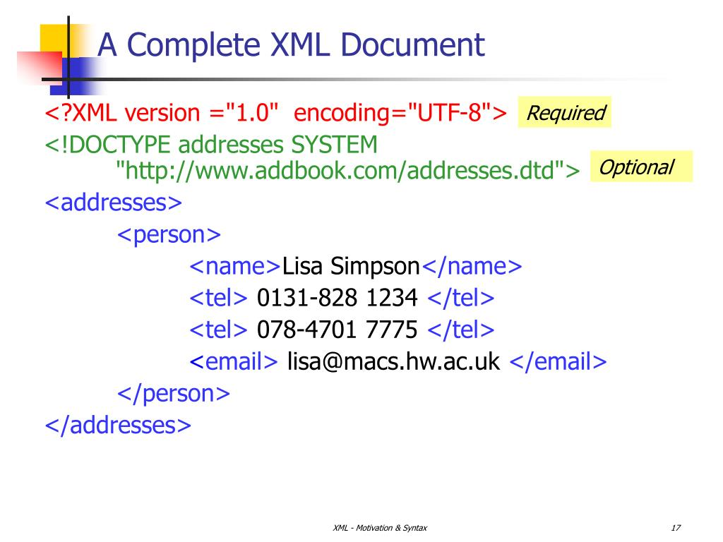 A Complete XML Document