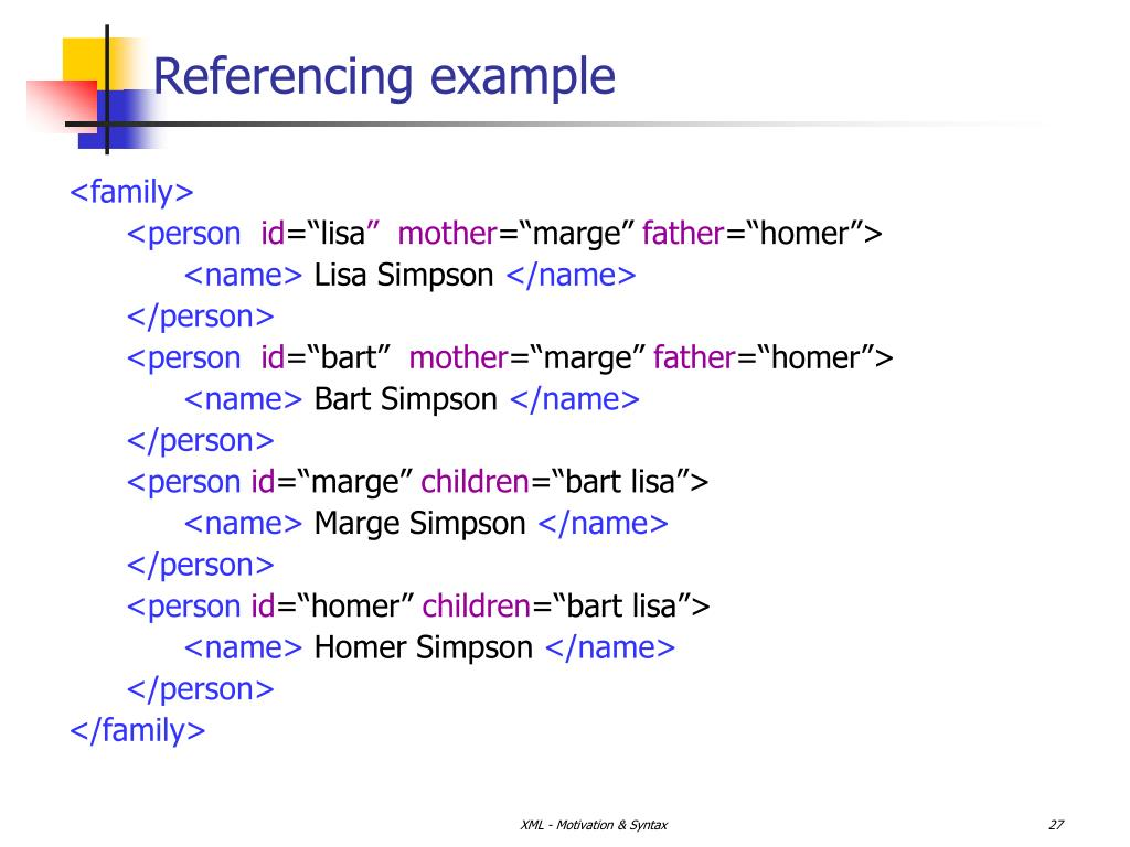 Referencing example
