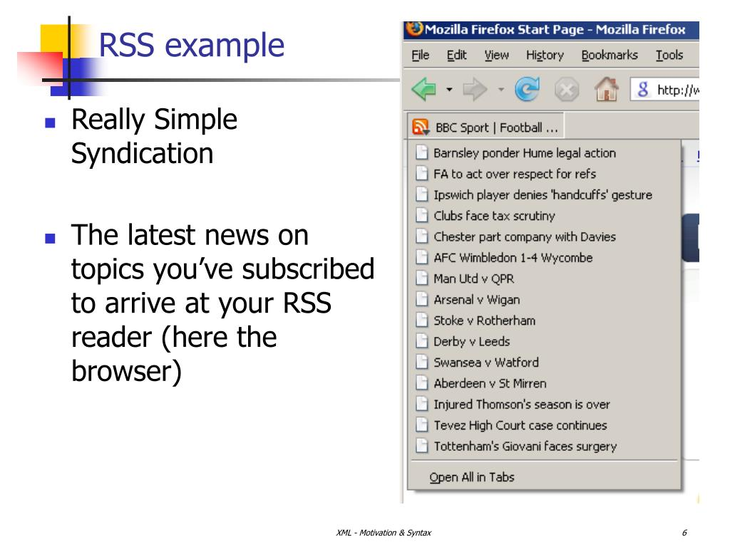 RSS example
