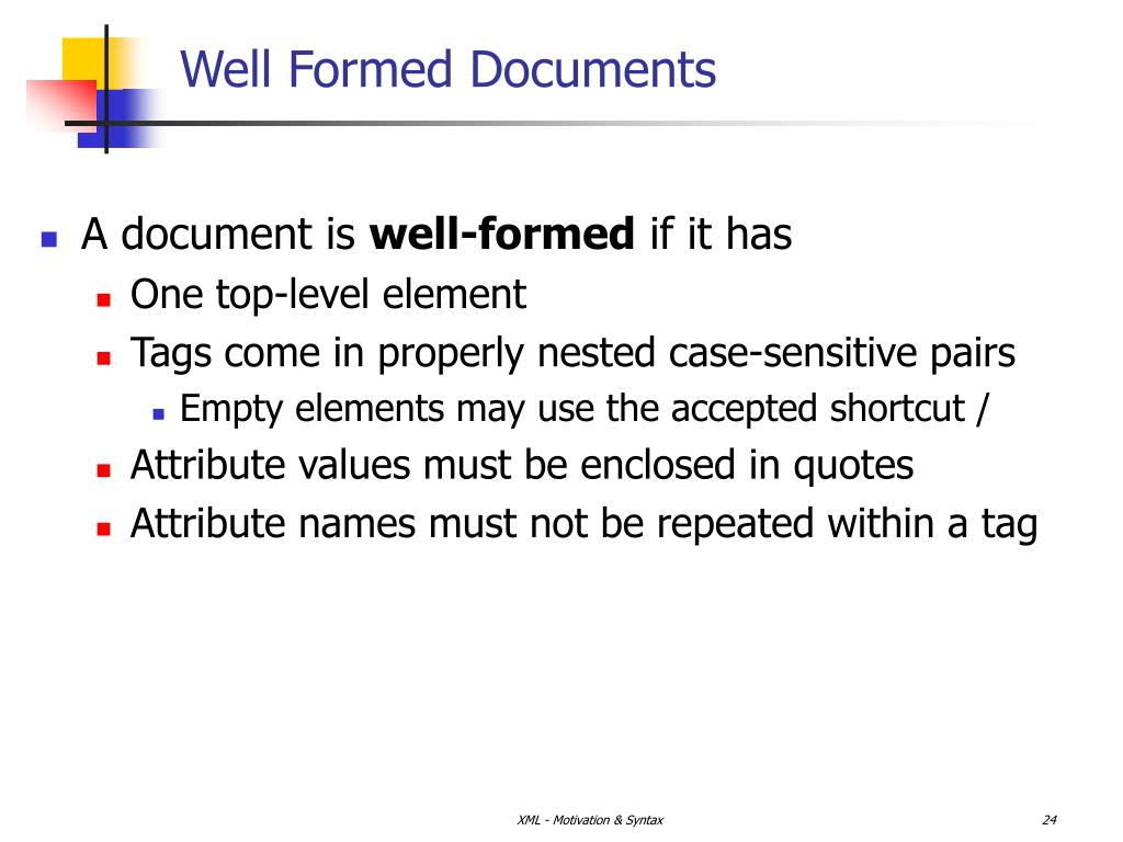 Well Formed Documents
