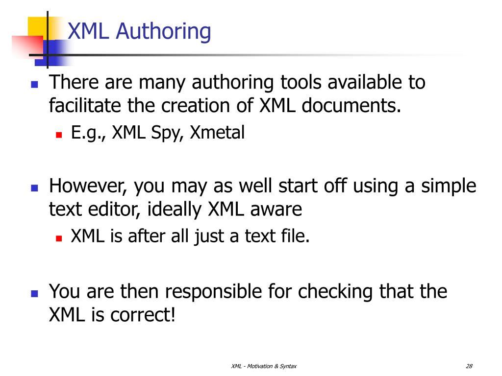 XML Authoring