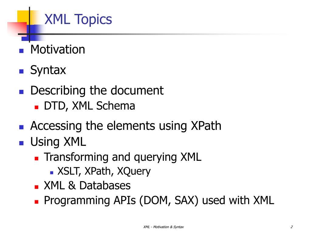 XML Topics