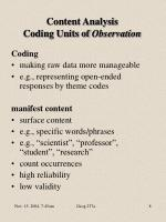 content analysis coding units of observation
