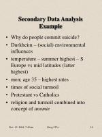 secondary data analysis example