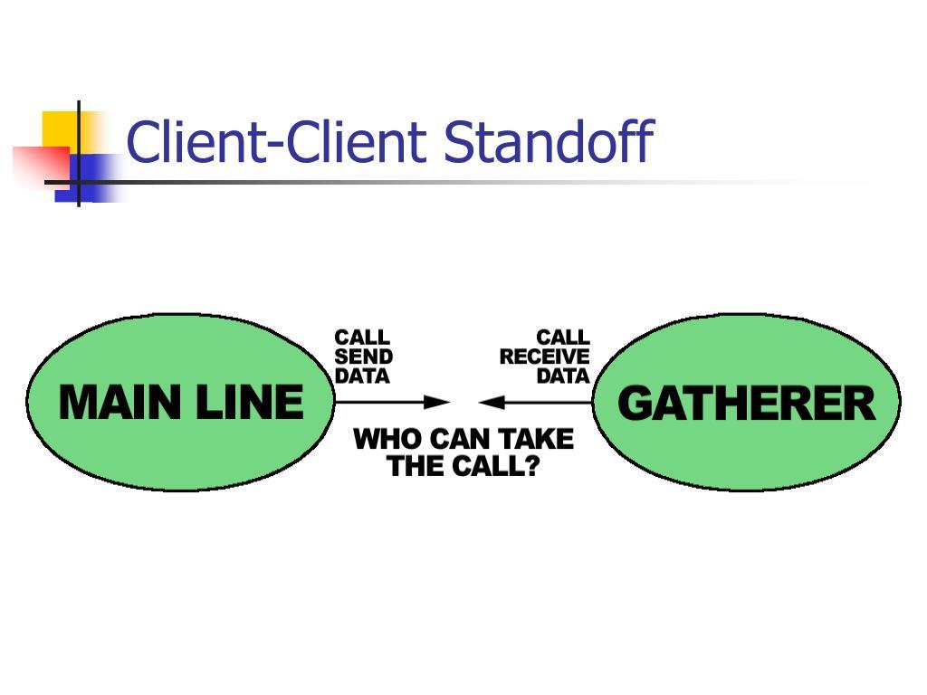 Client-Client Standoff