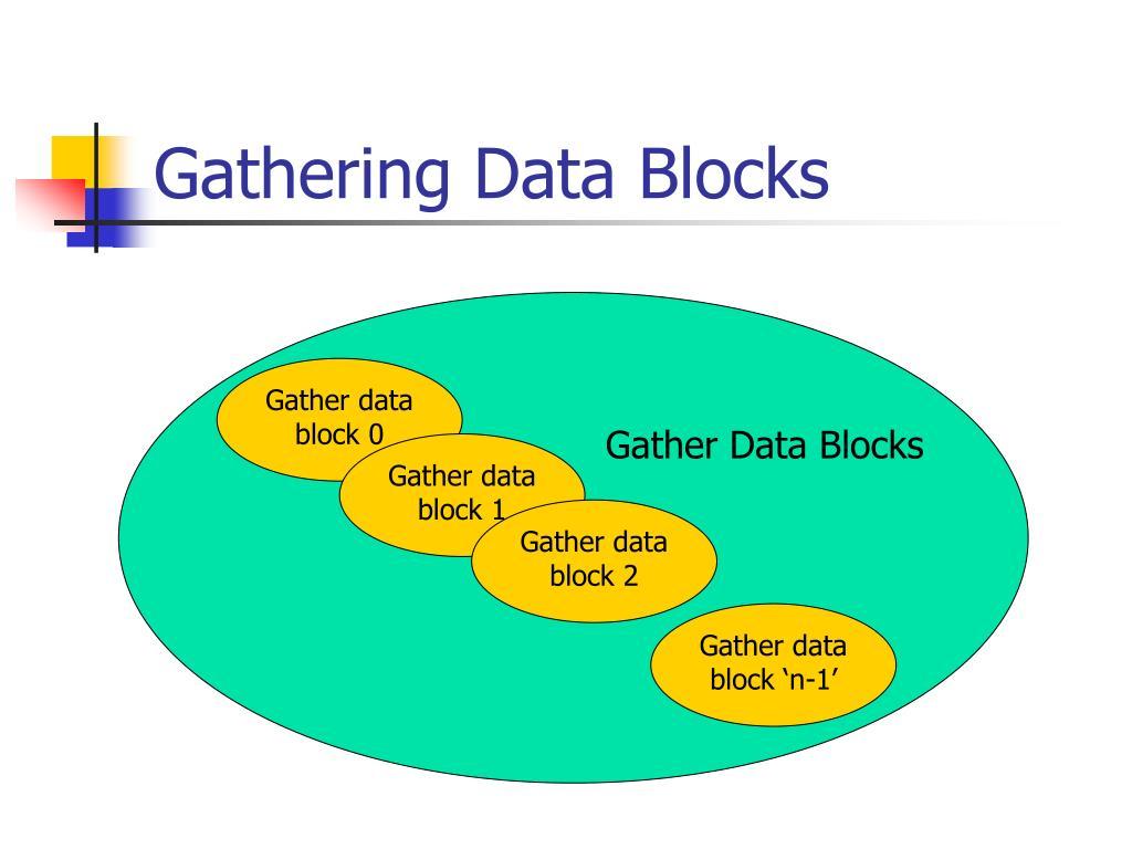 Gathering Data Blocks