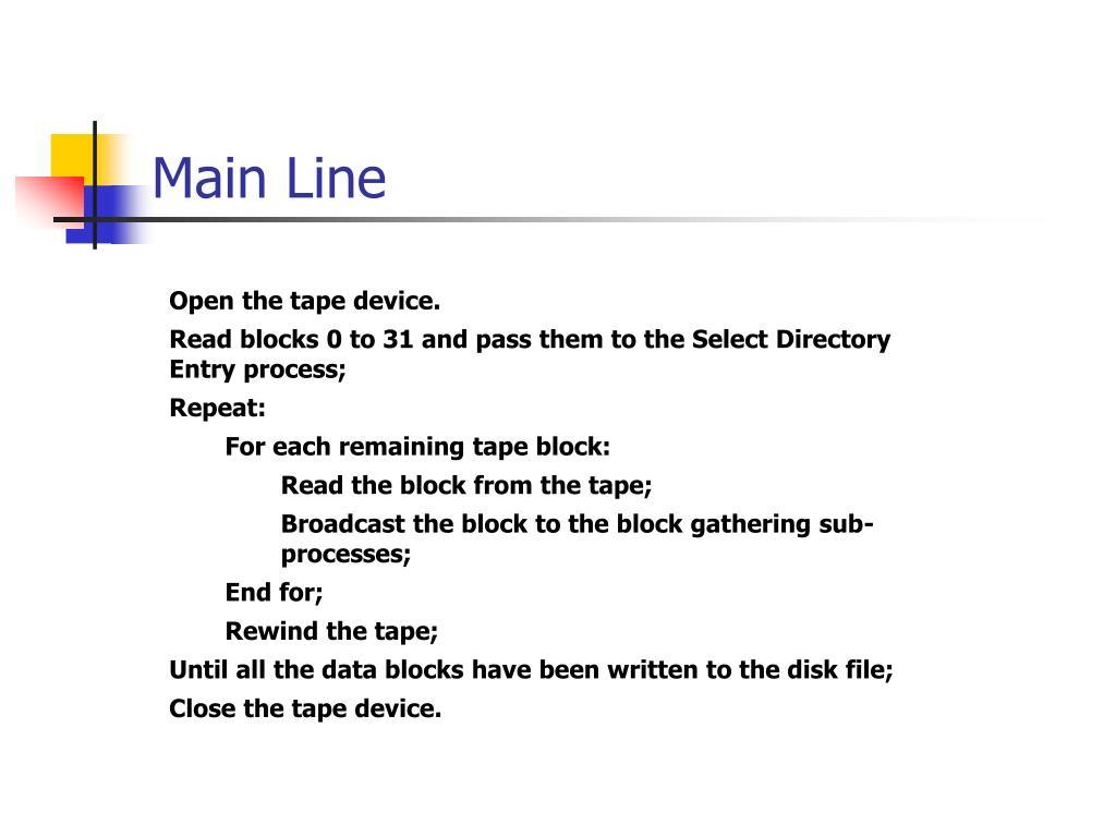 Main Line