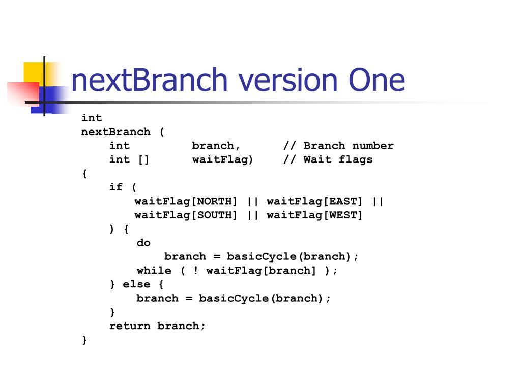nextBranch version One