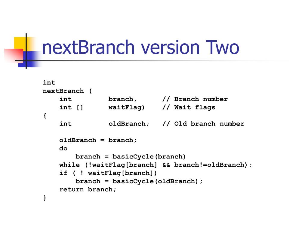 nextBranch version Two