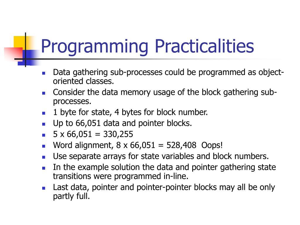 Programming Practicalities