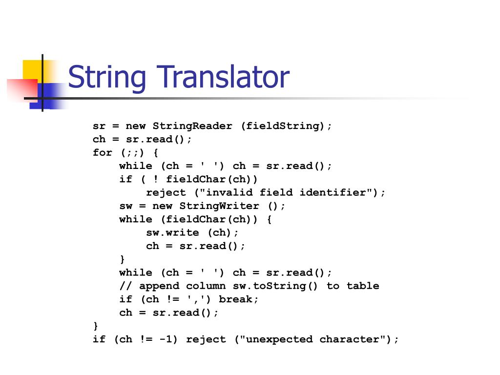 String Translator