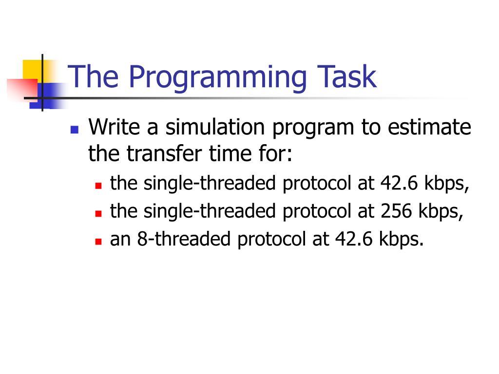 The Programming Task