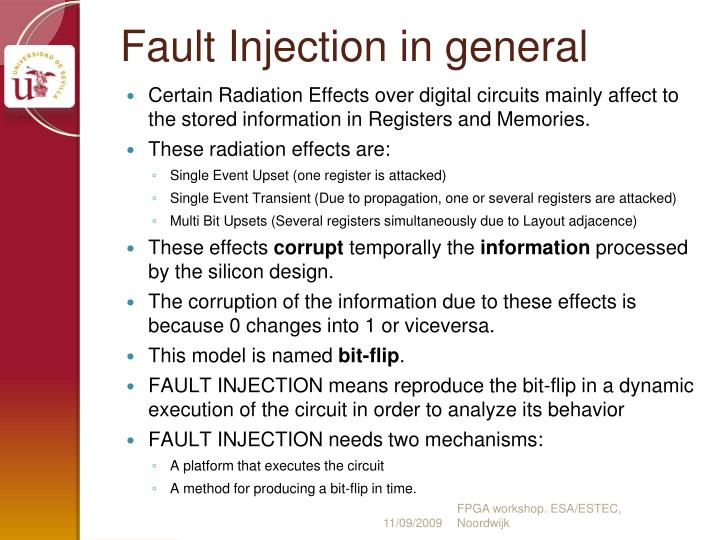 Fault injection in general