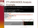 ft unshades analysis example