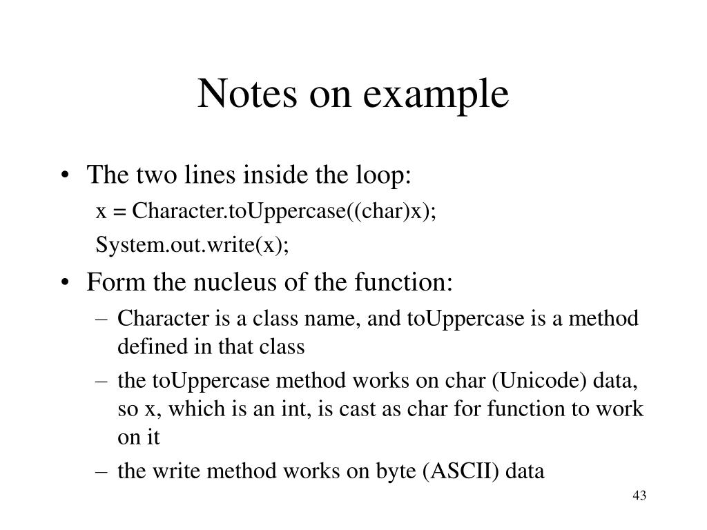 Notes on example