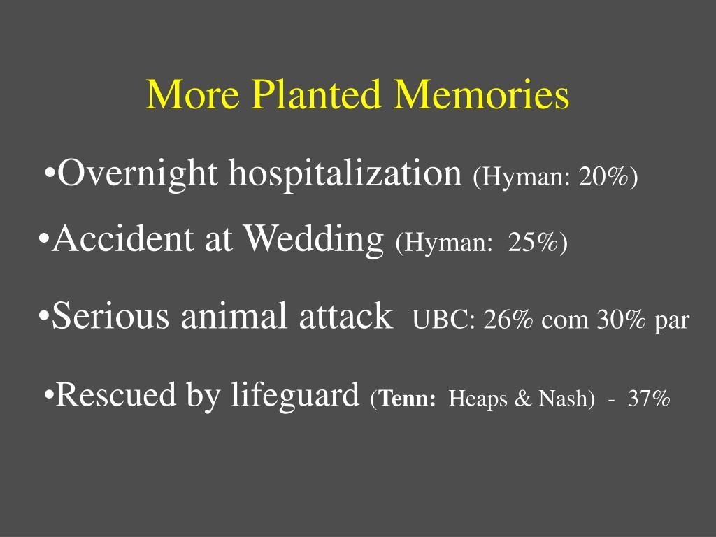More Planted Memories