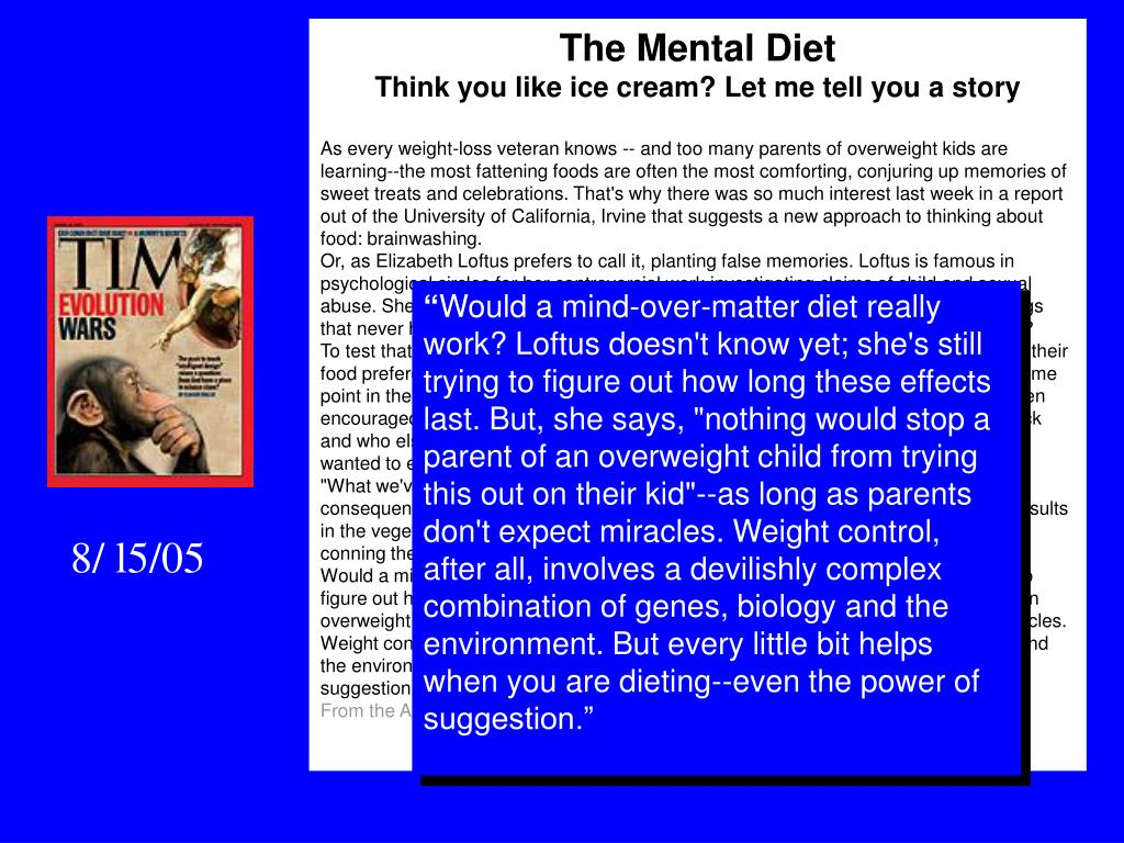 The Mental Diet