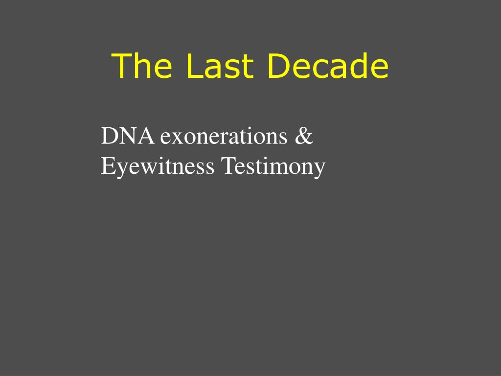 The Last Decade