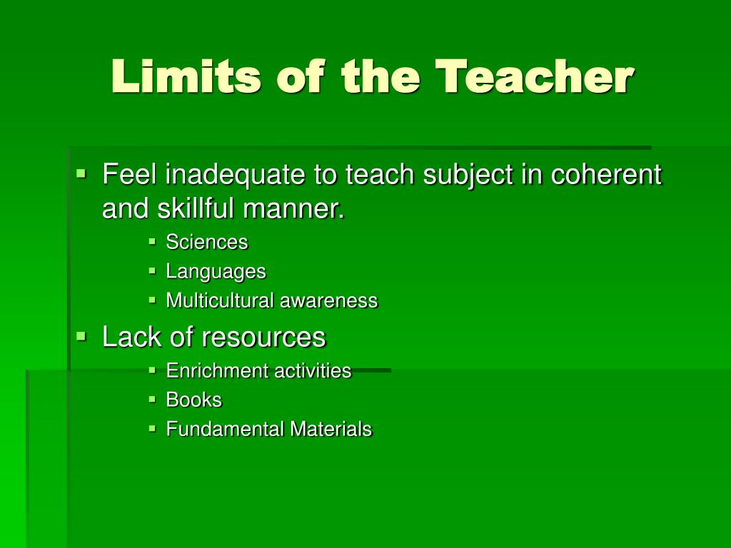 Limits of the Teacher