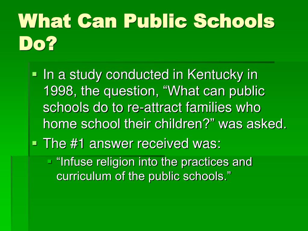 What Can Public Schools Do?