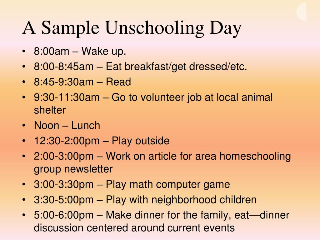 A Sample Unschooling Day