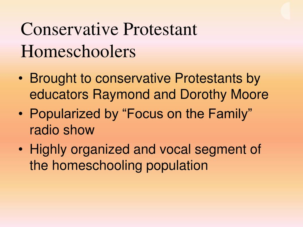 Conservative Protestant Homeschoolers
