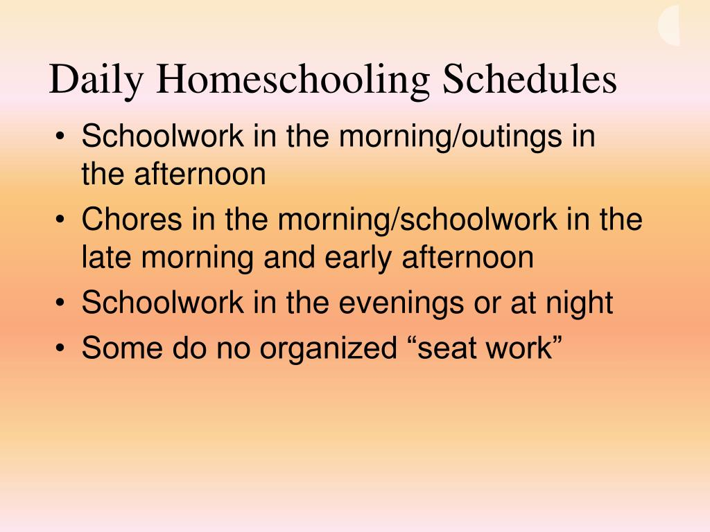 Daily Homeschooling Schedules