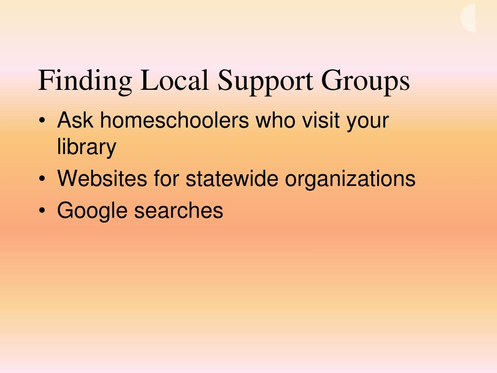 Finding Local Support Groups