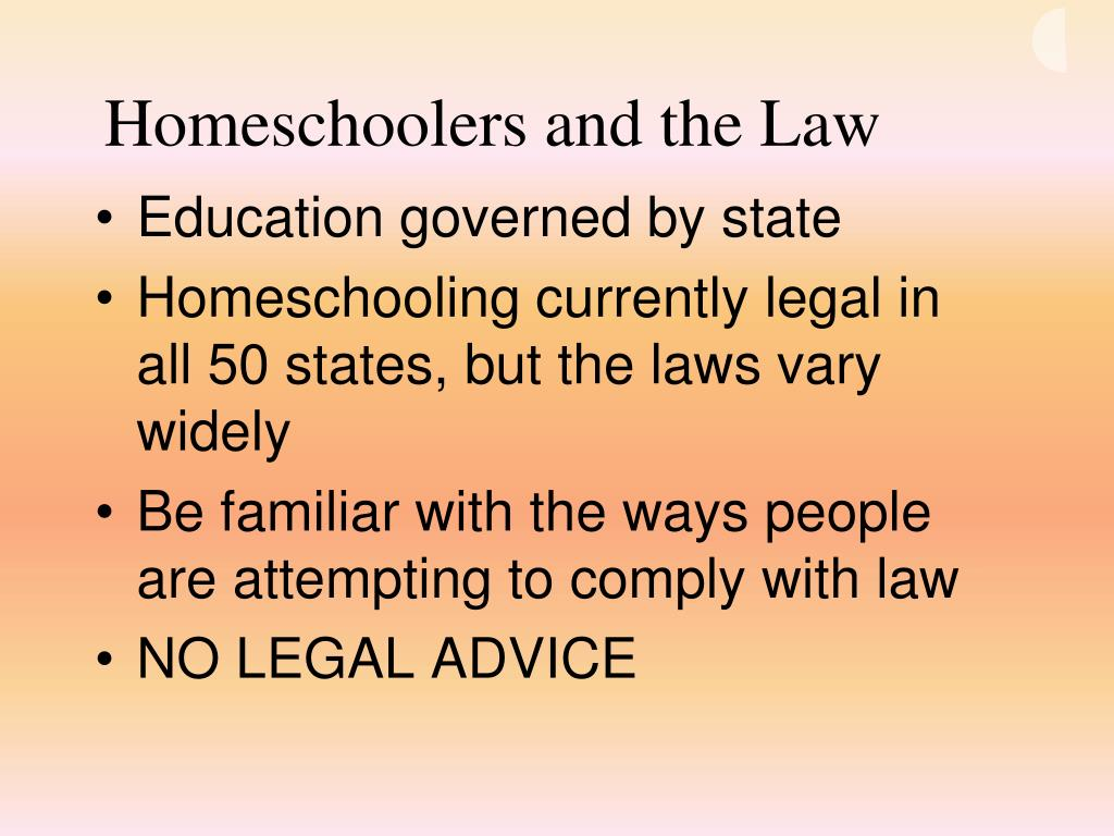 Homeschoolers and the Law
