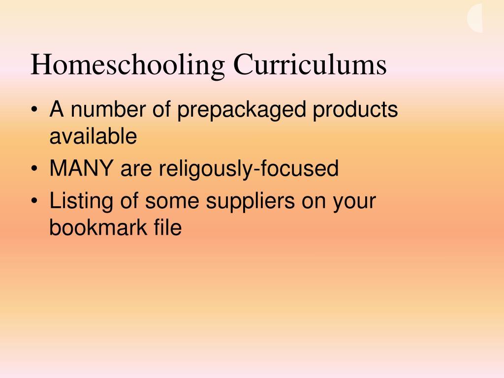 Homeschooling Curriculums