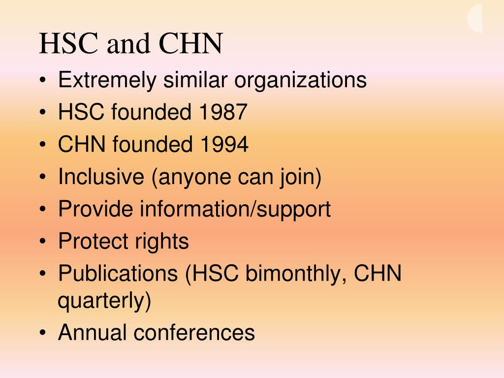 HSC and CHN