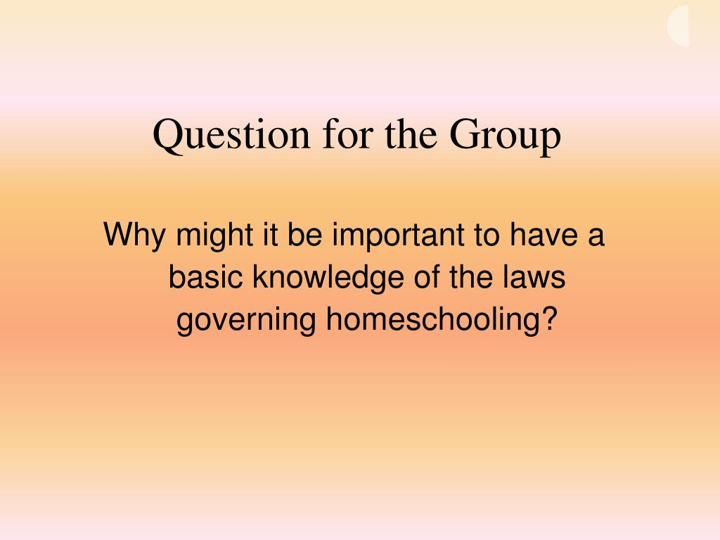 Question for the Group
