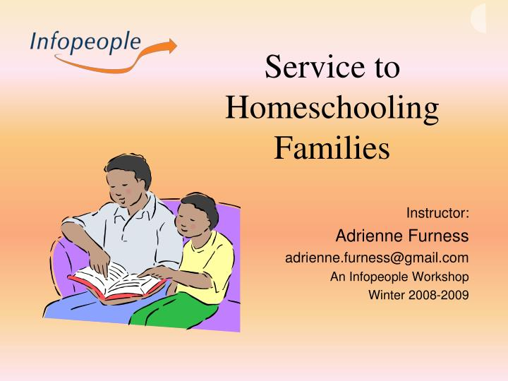 Service to homeschooling families