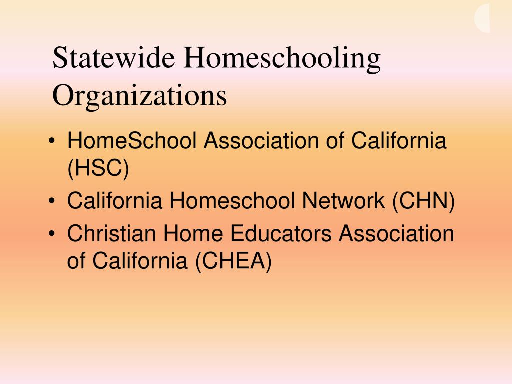 Statewide Homeschooling Organizations
