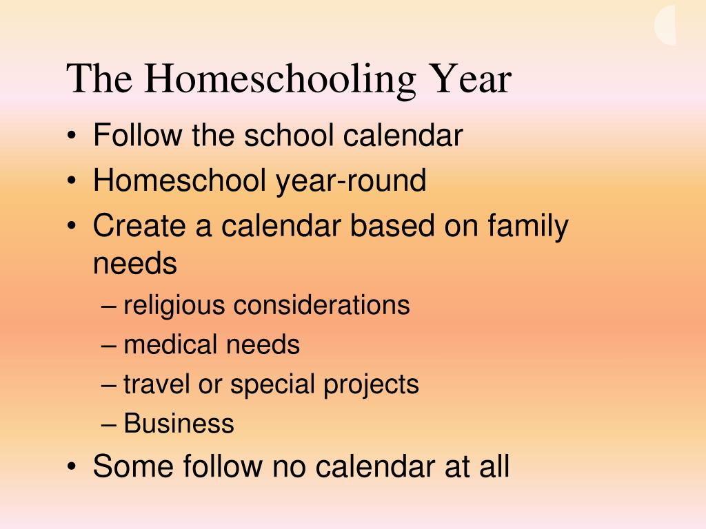 The Homeschooling Year