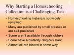 why starting a homeschooling collection is a challenging task