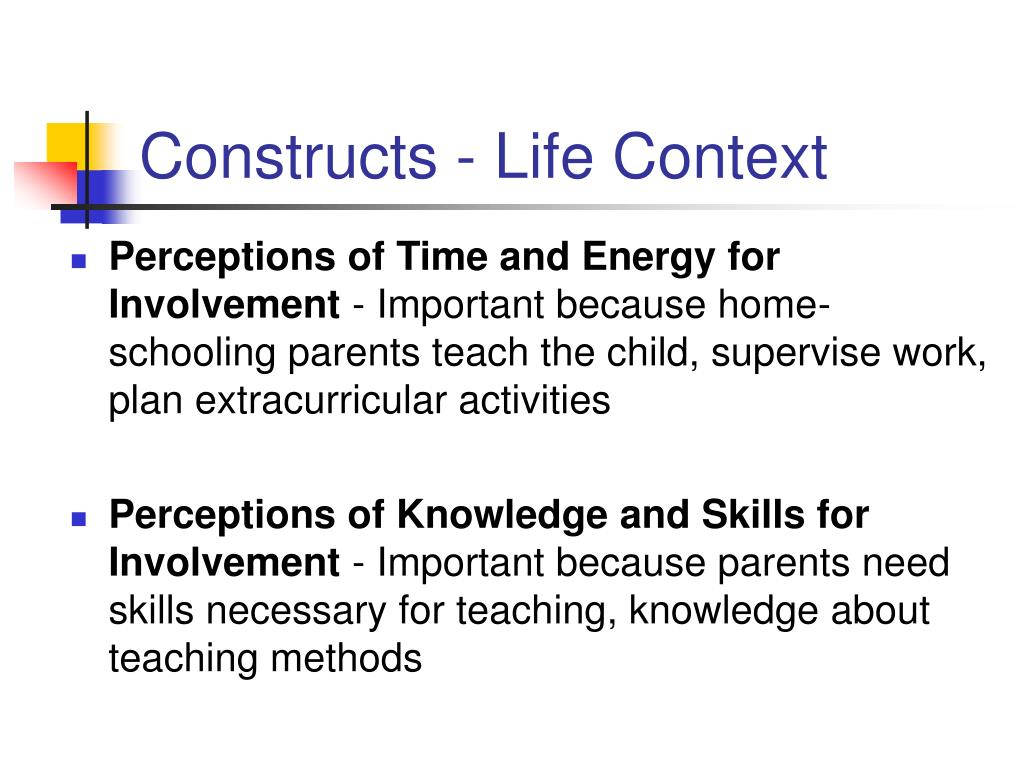 Constructs - Life Context